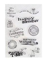 [Birthday] 2 Sets Of Creative Transparent Craft Stamps Scrapbooking Clea... - £8.89 GBP