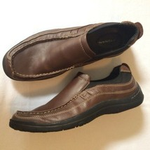 Bostonian Men's Slip-on Driving Moc Loafers Size 11 M Brown Leather Casual Shoes - $18.00