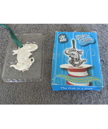 Dr Seuss The Fish In A Dish Silver Plated Ornament Age 3 - $4.99