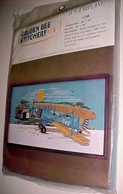 Primary image for Golden Bee Stitchery #708 It's A Biplane Sealed 1977 Coralie Ginther New