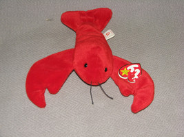 Rare Retired TY BEANIE BABY Babies PINCHERS Lobster 1993 PVC Pellet Tag ... - $15.83