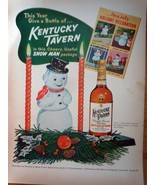 Kentucky Tavern In A Cherry SnowMan Package Magazine Advertising Print Ad 1952 - $7.99