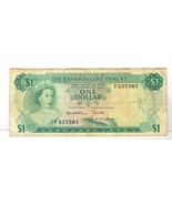 1965 BAHAMAS GOVERNMENT $1 DOLLAR NOTE 3 SIGNATURES F337587 - £10.44 GBP