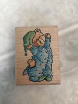 "Craft Rubber Stamp Stampede ""Bedtime Bear"" A781D Cutest Little Teddy Bea... - $8.59"