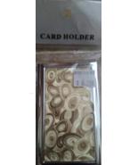 Gold Swirl Circles Buisness Card Holder Carrier - New  - $9.99