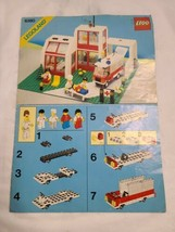 Vintage LEGO 6380 Emergency Treatment Center Instructions Manual Only - $19.79