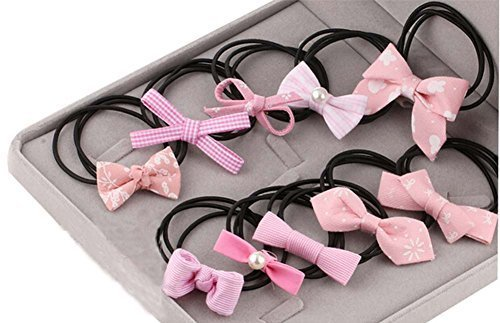 Hair Accessories Hair Ring Beautiful Bow Hair Rope Cloth Headband Rope ,10 Pcs