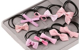 Hair Accessories Hair Ring Beautiful Bow Hair Rope Cloth Headband Rope ,10 Pcs