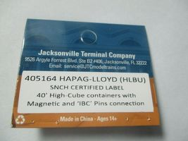 Jacksonville Terminal Company # 405164 Hapag Lloyd 40'  Container (N) image 4