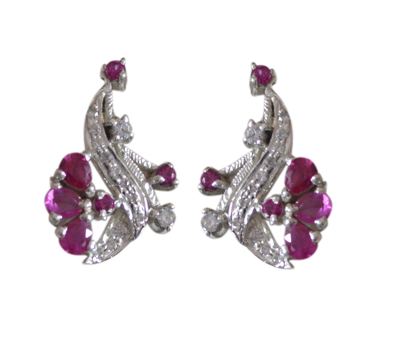 pulchritudinous Multi CZ Solid Sterling Silver Multi Earring Natural jaipur US