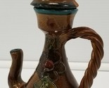 VC) Vintage Italian Decorative Clay Terracotta Genie Lamp with Lid