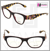 Prada Voice PR07RV Brown Havana Red Jewel Black Eyeglasses 07R Rx 51mm - $237.60