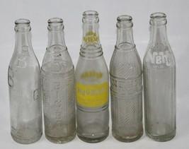 Lot of 5 Vintage Soda Pop Glass Bottles - Big Bill, Big Boy, NuGrape, 2 ... - $42.07