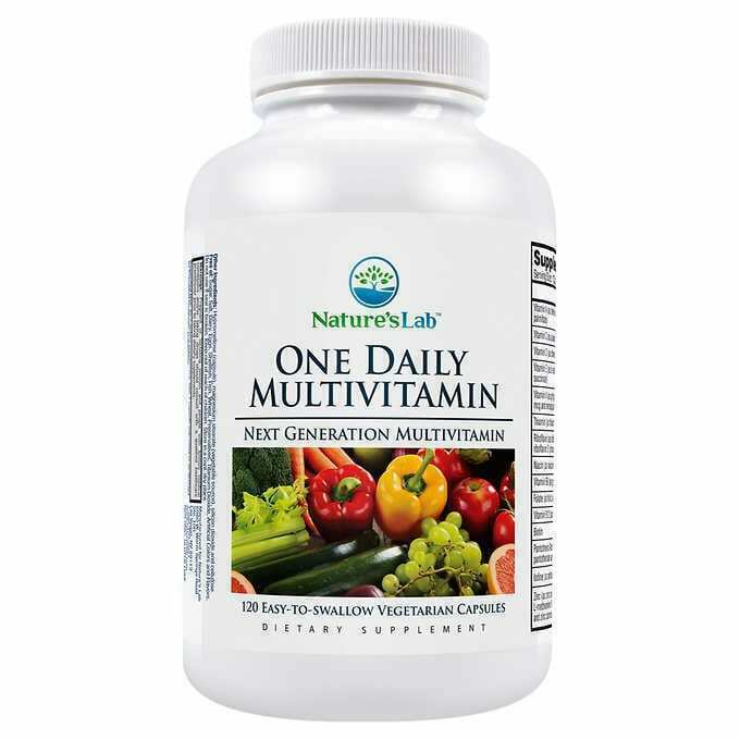 Primary image for NEW Nature's Lab One Daily Multivitamin, 120 Vegetarian Capsules Free Shipping