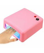 Pro 36W Pink UV Gel Nail Art Cure Curing Lamp Dryer & 4 pcs 9W Bulb 110V... - $22.79