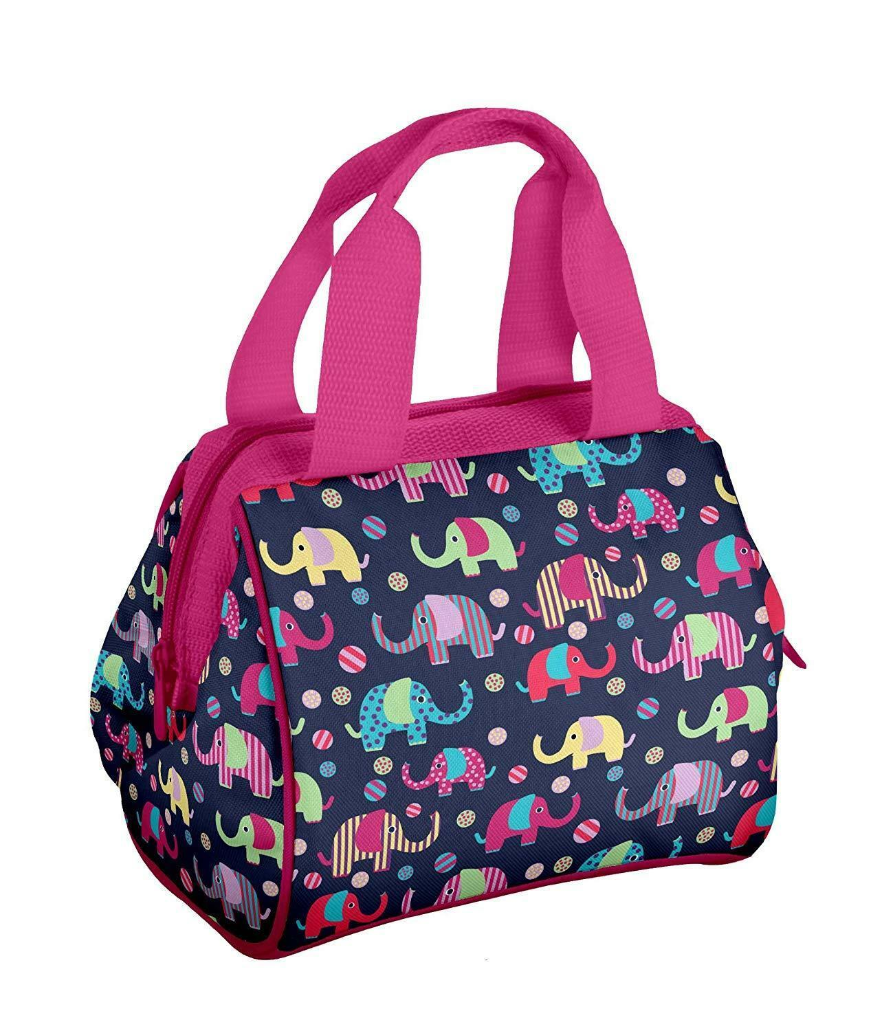New Fit & Fresh Insulated Elephant Lunch Box Pink & Blue
