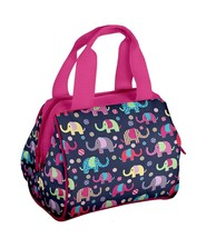 New Fit & Fresh Insulated Elephant Lunch Box Pink & Blue image 1