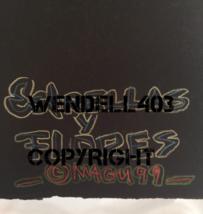 "Original 8x10"" Oil Pastel Gilbert Magu Lujan 1999 Drawing Art on Board image 4"