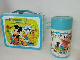 1970s Walt Disney World Metal Lunchbox & Thermos Ex+ - $39.55