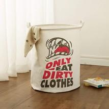 ALYER Large Sized Folding Cylindric Waterproof Coating Cotton Fabric Lau... - $25.09
