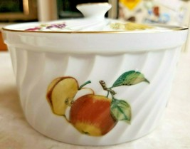 Royal Worcester Evesham Gold Oven to Table Small Dish with Lid Fruit Butterfly  - $18.70