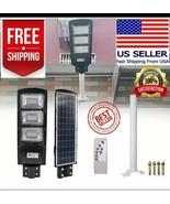 90W 180 LED Solar Power LED Street Light Radar PIR+ Remote Control+Pole ... - $74.00