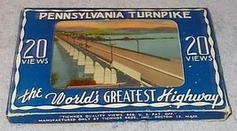 Pennsylvania Turnpike 20 Boxed Color Linen Souvenir Views Tichnor Bros Boston - $9.95