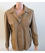 Vintage Leathers New England Jacket Women's Brown Button Lined L 12-14 - $74.25