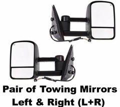 03-07 Silverado GMC Sierra Pickup Towing Mirrors Set Power Heated LED - $280.26