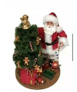 Kirkland Signature Fabric Mache Santa Trimming Christmas Tree Decoration - $45.53