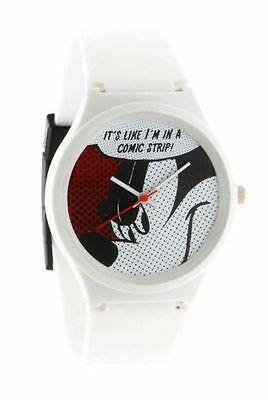 Flud Disney Mickey Mouse Prologue Comic l White Quartz Wrist Watch New in Box