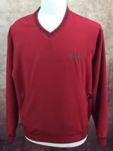 Nike Golf Wind Shirt V Neck Zip Pockets Red Embroidered ACCURIDE Men's Medium - $15.79