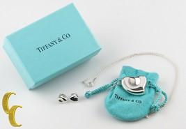 Tiffany & Co. Elsa Peretti Herz Anhänger & Ohrstecker W & Tasche - $544.51