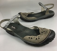 JBU Jambu Womens 11M Too Cut Ocean Mary Jane Vegan Flower Cut Out Gray Sandals - $47.53