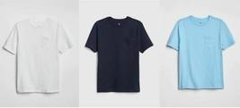 Gap Kids Boys T-shirt 8 10 12 14 16 Navy White Blue Pocket Crew Short Sl... - $14.95