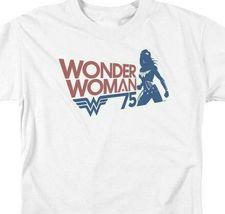 Wonder Woman Silhouette t-shirt 75th anniversary DC Comics graphic tee JLA711 image 3