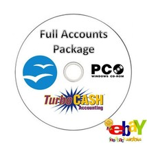 ACCOUNTS BOOK KEEPING COMPLETE SOFTWARE PACKAGE BUSINESS/PERSONAL CD VAT... - $3.52
