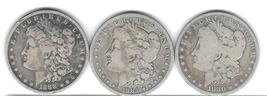 Three nice Morgan Silver Dollars from the 1880'S - $90.00
