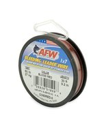 American Fishing Wire Bleeding Leader Blood Red Nylon Coated 1x7 Stainle... - $9.10