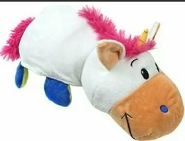 "FlipaZoo Stuffed Animal Unicorn to Dragon Flip a Zoo Pillow 16"" - $16.14"
