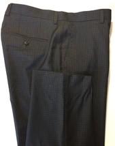 Hugo Boss Men's Check Virgin Wool Dress Pants 40R Black Navy Slim - $65.52