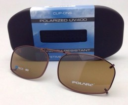 COCOONS Amber Polarized Sunglasses/Eyeglasses Over Rx Clip-on REC 5-50 Bronze