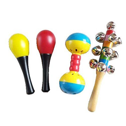 4 Pcs Pastic Kids Pastic Rattles/Baby Music Rattles Shaker Educational Toys Gift