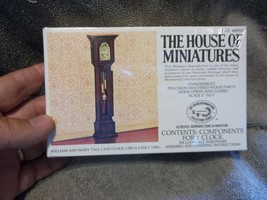 The House of Miniatures X-ACTO William and Mary Tall Case Clock  NIB NO. 40018 - $13.54