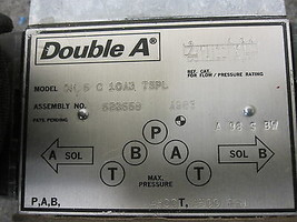 DOUBLE A QM-5-C-10A3-TSPL DIRECTIONAL VALVE  image 2