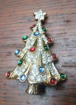 Swarovski Crystal Ornament Figurine Rare 1996 Christmas Tree Brooch w/ Box - $292.05