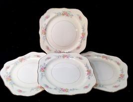 8 Homer Laughlin Ferndale Eggshell Nautilus Square Salad Plates - $64.35