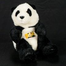 """Giant Panda Bear Stamp Plush 7"""" Black White Elh USA 29 Stuffed Animal 2005 - $13.72"""