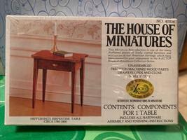 Dollhouse House of Miniatures Hepplewhite Serpentine Table Circa 1780-1800 40036 - $12.99