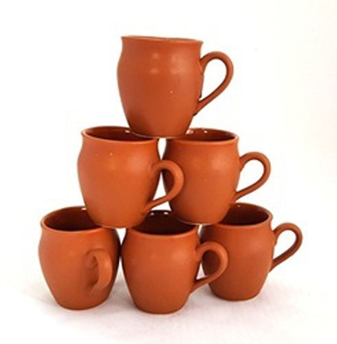 Ceramic handmade Stylish Kulhar design tea cup Set of 6 by Himalayan Range
